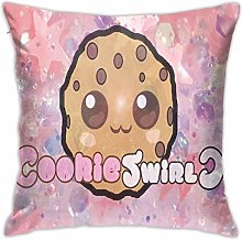 Lsjuee Cookie Swirl C Pillowcase Decorative Throw