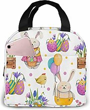 Lsjuee Easter Portable Lunch Bag Insulated Cooler
