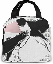 Lsjuee Funny Panda Portable Lunch Bag Insulated