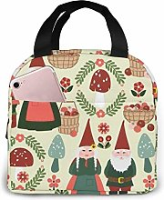 Lsjuee Gnomes Portable Lunch Bag Insulated Cooler
