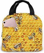 Lsjuee Honey Bees On A Honey Combs Insulated