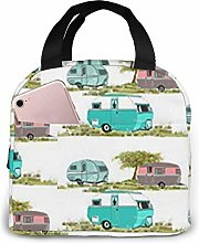 Lsjuee Lets Go Camping Retro Travel Trailers