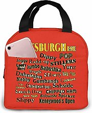 Lsjuee Pittsburghese Portable Lunch Bag Insulated