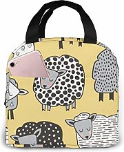Lsjuee Sheep Portable Lunch Bag Insulated Cooler