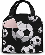 Lsjuee Soccer Portable Lunch Bag Insulated Cooler