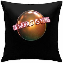 Lsjuee The World is Yours (Scarface) Throw Pillow