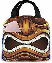 Lsjuee Tiki Lunch Bag Cooler Bag Stylish Lunch Box