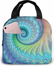 Lsjuee Turquoise Tie Dye Octopus Insulated Lunch