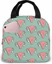 Lsjuee Uterus Pink Portable Insulated Lunch