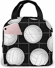 Lsjuee Volleyball Sports Portable Insulated Lunch