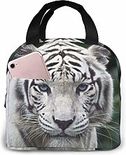 Lsjuee White Tiger Portable Insulated Lunch
