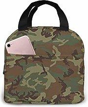 Lsjuee Woodland Universal Camo Lunch Bag Cooler