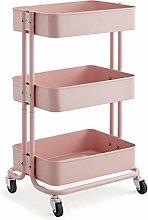 LSMK Carts Minimalistic Utility Cart, Pink Sturdy
