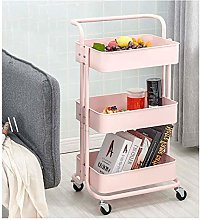 LSNLNN Carts,3 Tier Kitchen Rolling Cart with