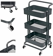 LSNLNN Carts,3 Tier Kitchen Trolley Slim Storage