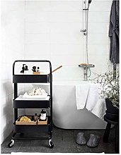 LSNLNN Carts,Metal Kitchen Storage Trolley Cart
