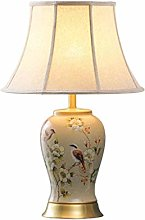LSNLNN Desk Lamps,Ceramic Table Lamp, Fashion