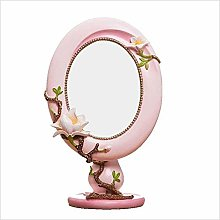 LSNLNN Mirrors,Resin Side Desk Cosmetic Mirror,
