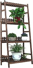 LSNLNN Plant Stands,Home 4 Tier Plant Stand Wooden