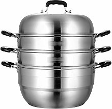 LSNLNN Pots,Household Food Steamer Pan,Large 4