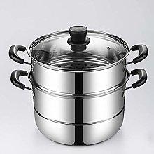 LSNLNN Stock Pot,Stainless Steel Steamer 2-Tier