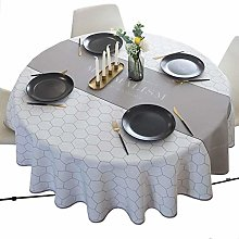 LSNLNN Tablecloths,Round Table Cloth Color