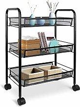 LSNLNN Trolleys, Kitchen Organizer Cart with Metal