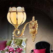 LSNLNN Wall Lamps,European Crystal Wall Lamp Full