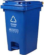LSNLNN Waste Bin,60L Industrial Trash Can, Plastic