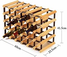 LSNLNN Wine Racks,Wine Rack Solid Wood Wine Rack