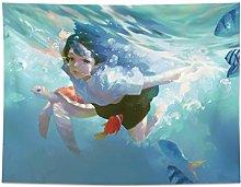 LSSWY Tapestries,Undersea Girl Tortoise