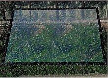 LSXIAO Waterproof Tarp Cover, Transparent Screen,