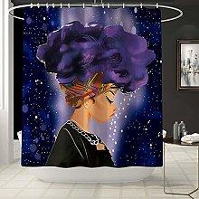 LTAYZ Shower Curtain Purple shower curtain pattern