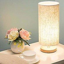 LTAYZ Table Lamp Cylindrical Wood Fabric