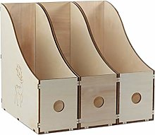 LTCTL Bookend Wooden Bookends Magazine File Holder