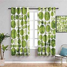 LTHCELE Blackout Curtains for Bedroom - Green dots