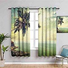LTHCELE Blackout Curtains for Bedroom - Green