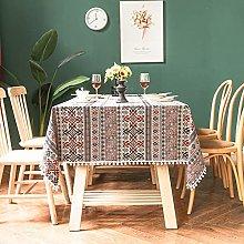 LTLGHY Rectangular Table Cloth, Washable Cotton