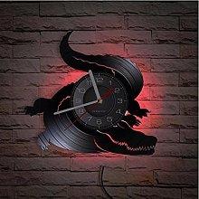 LTMJWTX Alligator Vinyl Record Wall Clock For Kids