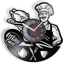 LTMJWTX Cooking Time Vinyl Record Wall Clock