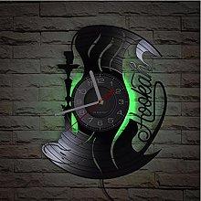 LTMJWTX Hookah Wall Clock Vintage Album Vinyl