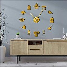 LTMJWTX Kitchen Cooking Tools DIY Giant Wall Clock