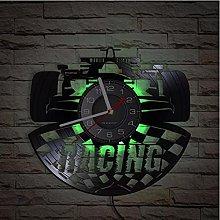LTMJWTX Racing Car Vinyl Record Wall Clock Car For