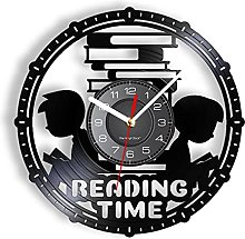 LTMJWTX Reading Time Vinyl Record Wall Clock For
