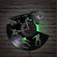 LTMJWTX Skateboarder Vinyl Album Record Clock For