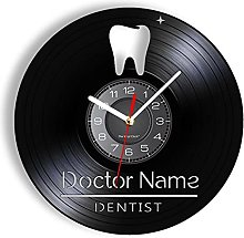 LTMJWTX Tooth Sign Custom Doctor Name Vinyl Album
