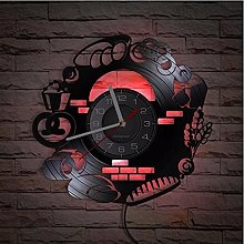 LTMJWTX Vinyl Record Wall Clock Bakery Kitchen