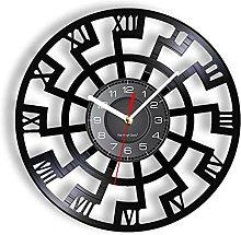 LTMJWTX Vinyl Record Wall Clock Wall Art Clock