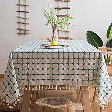 LTPY Rectangular Grid Washable Table Cover For
