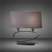 Lua Table Lamp 2 Bulbs E27, ash gray with ash gray